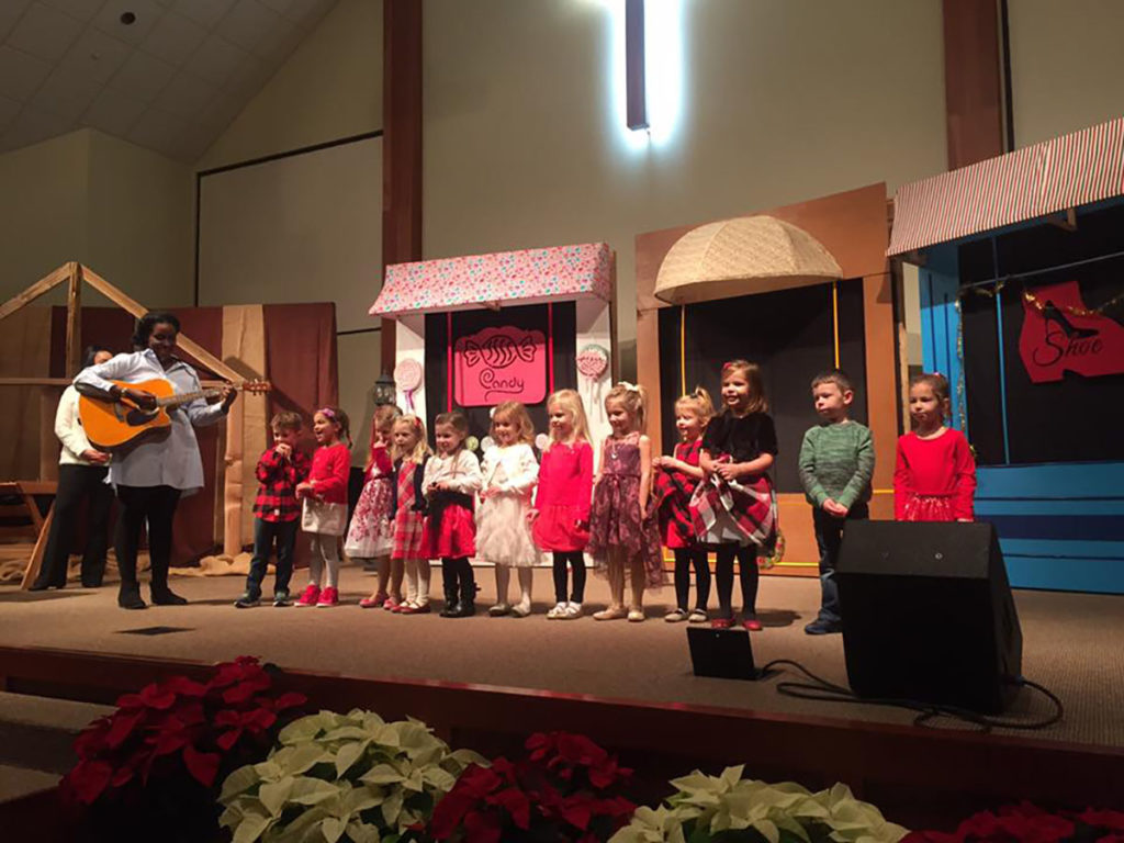 children during school musical at a Preschool & Daycare Serving Carmel, Indiana