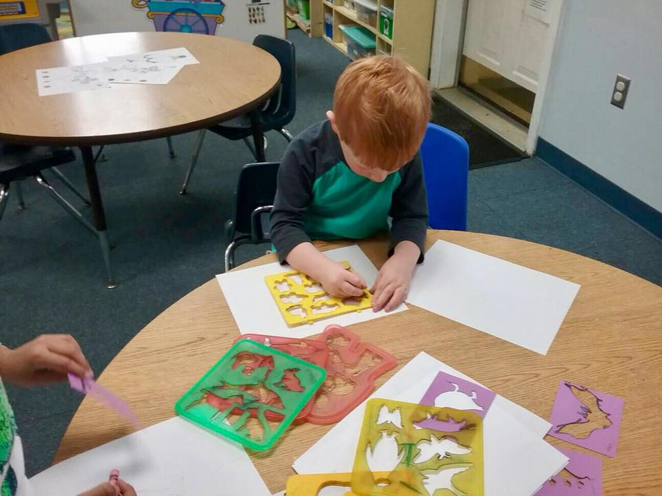 boy learning at a Preschool & Daycare Serving Carmel, Indiana