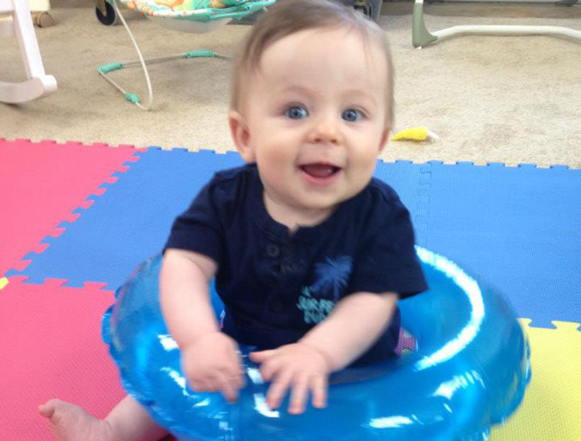 happy baby boy at a Preschool & Daycare Serving Carmel, Indiana