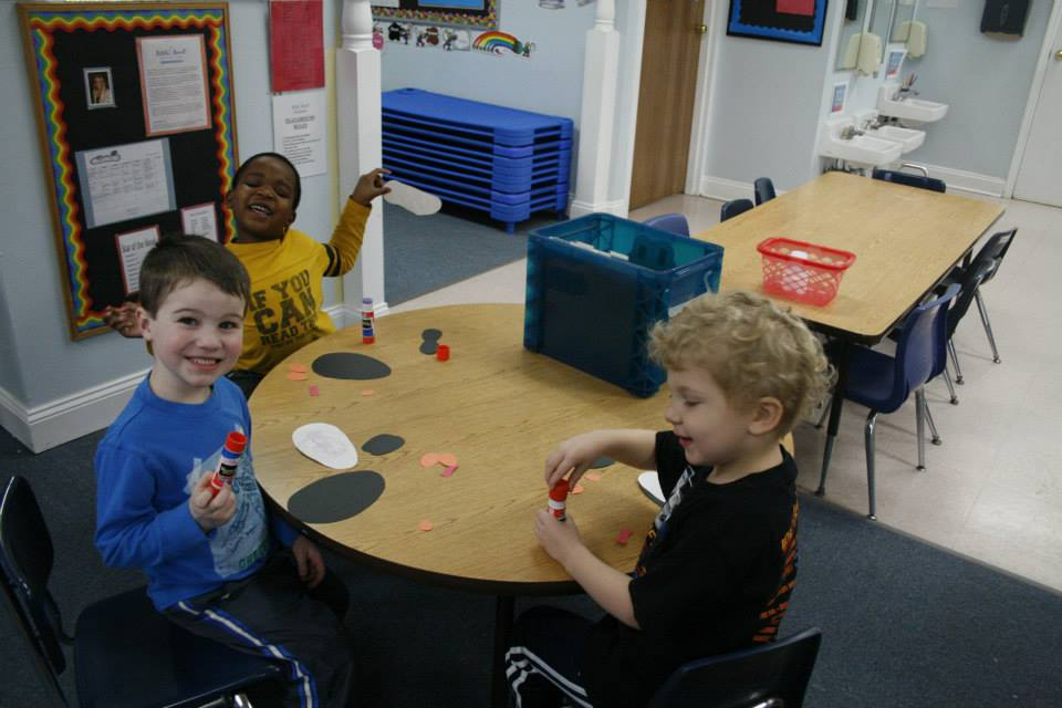 happy smiling boys in class at a Preschool & Daycare Serving Carmel, Indiana