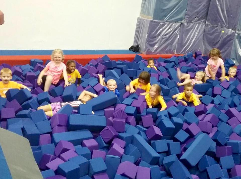 kindergarten children doing gymnastics at a Preschool & Daycare Serving Carmel, Indiana