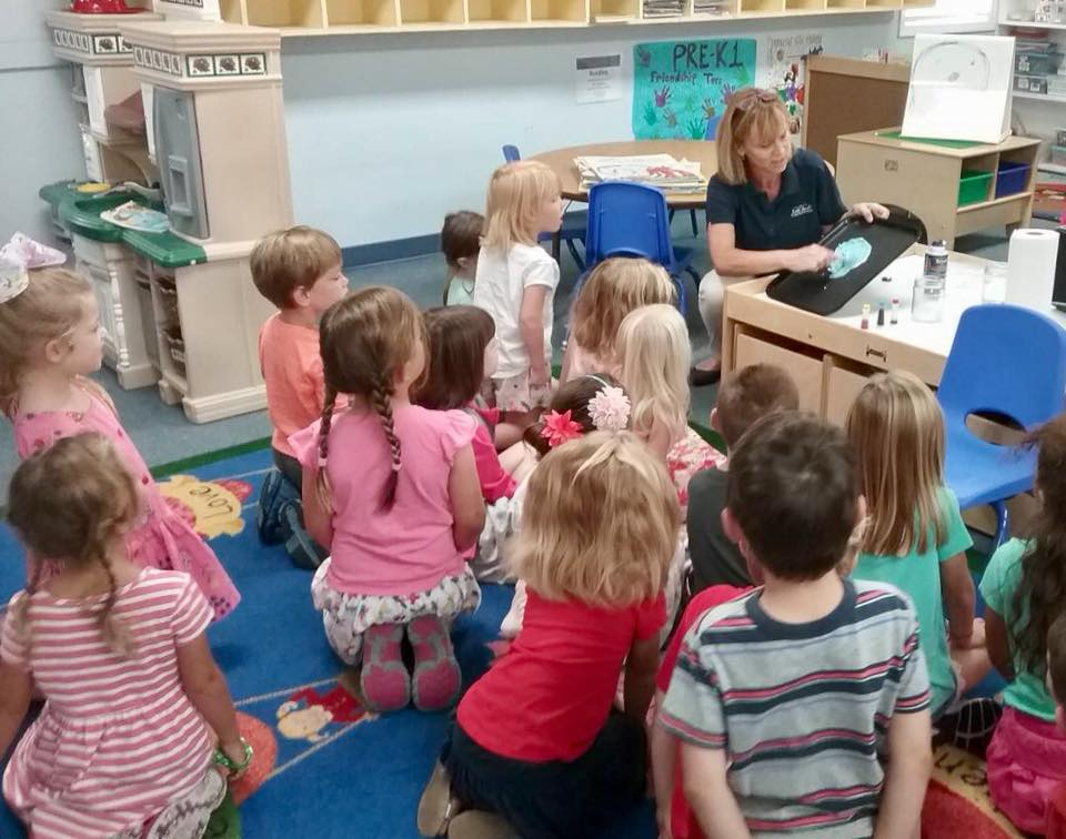 kindergarten class learning science at a Preschool & Daycare Serving Carmel, Indiana