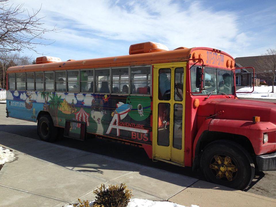 school bus at a Preschool & Daycare Serving Carmel, Indiana