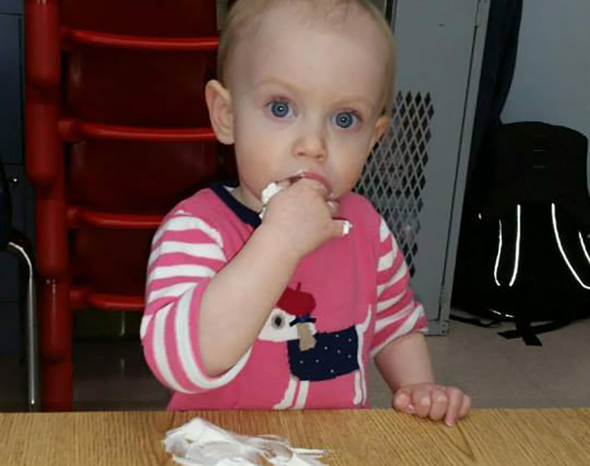 toddler eating at a Preschool & Daycare Serving Carmel, Indiana